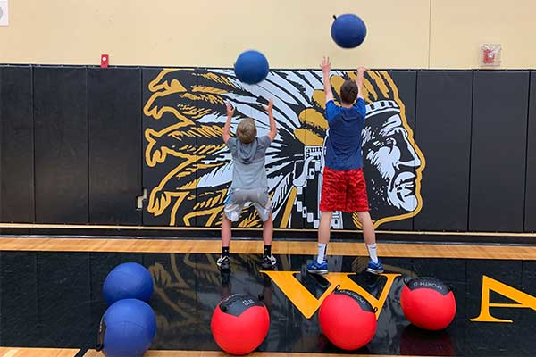 Philomath High School medicine balls enhance physical education