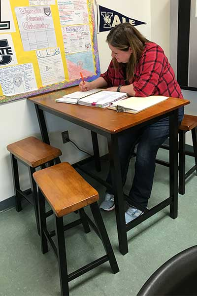 North Medford's new study table and chairs
